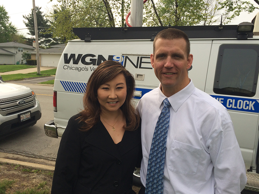 Rob Besecker and Judy Wang from WGN